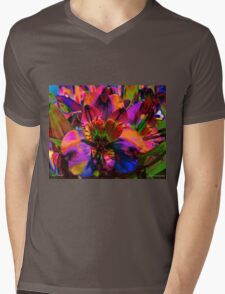 Floral Festival Mens V-Neck T-Shirt