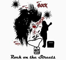 Rock on the streets. Womens Fitted T-Shirt