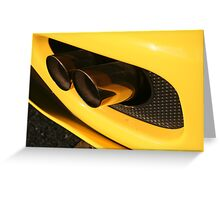 Ferrari 360 Spider Novetec Design - Exhaust Greeting Card
