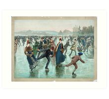 Skating by Henry Sandham (1885) Art Print