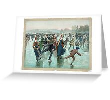 Skating by Henry Sandham (1885) Greeting Card