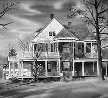 American Home III BW by KipDeVore