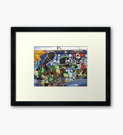 Coloured wall Framed Print