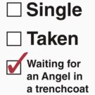 SINGLE TAKEN ANGEL IN TRENCHCOAT by thischarmingfan