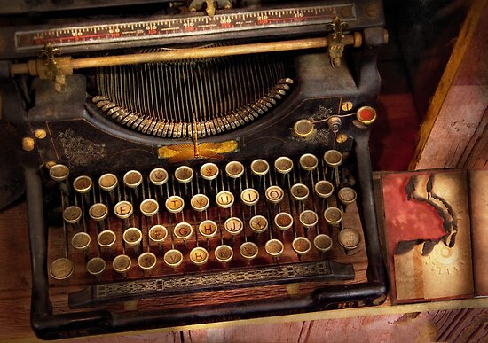 Steampunk - Just an ordinary typewriter  by Mike  Savad
