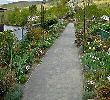 Bridge of Flowers at Shelburne Falls - Western Massachusetts by Jack McCabe