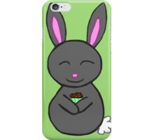 Bunny loves cupcakes iPhone Case/Skin