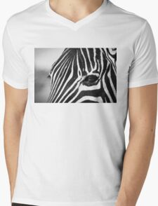 Zebra portrait Mens V-Neck T-Shirt
