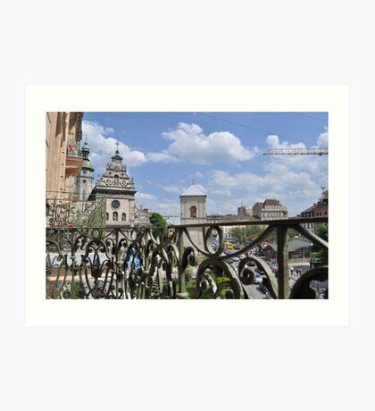 Lvov - Balcony Art Print