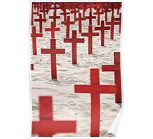 Red Crosses Poster