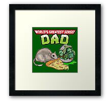 World's Greatest Sensei Dad Framed Print