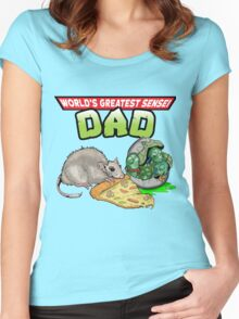 World's Greatest Sensei Dad Women's Fitted Scoop T-Shirt
