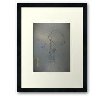 Photo: 3D Sculpture: The kiss -(170611)- Bent steel rod Framed Print