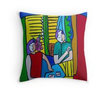 Queen of Hearts  ( ORIGINAL SOLD) Throw Pillow