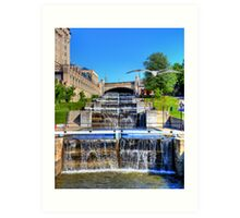 Rideau Canal Lockstations - UNESCO World Heritage Site Art Print