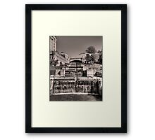 Rideau Canal Lockstations (BW) - UNESCO World Heritage Site Framed Print