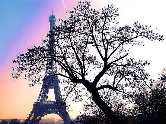sunset at the Tour Eiffel by faithie