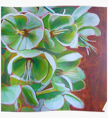 Hellebore, acrylic on canvas Poster