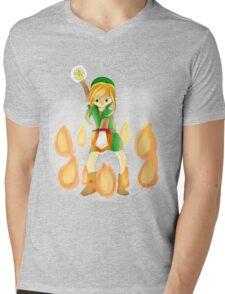 Bombos Medallion-- Blond Mens V-Neck T-Shirt