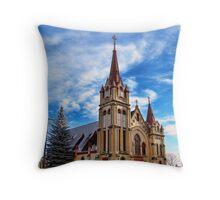 Christmas Church Throw Pillow