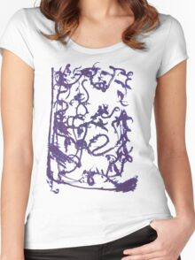 Mysterious ink spill Women's Fitted Scoop T-Shirt
