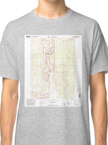 USGS Topo Map Oregon The Bull Pasture 281775 1998 24000 Classic T-Shirt