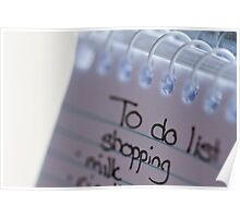 """""""to do"""" list Poster"""