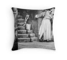 Who's Coming? Throw Pillow