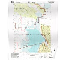 USGS Topo Map Oregon Military Crossing 280737 1998 24000 Poster
