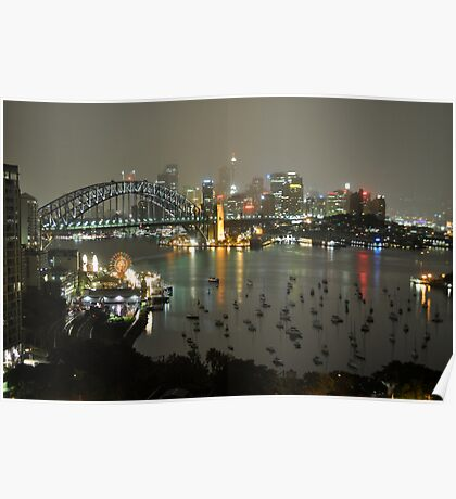 Sydney City - Cityscape at Night Poster