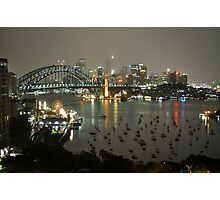Sydney City - Cityscape at Night Photographic Print