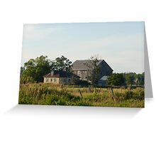 Country farm house and barn Greeting Card