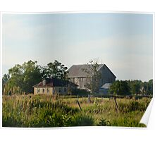 Country farm house and barn Poster