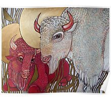 The White Buffalo (and the Red) Poster