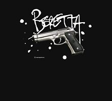 Beretta 9mm Pistol - White Logo Unisex T-Shirt