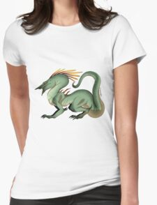 Wrinkle Dragon Womens Fitted T-Shirt