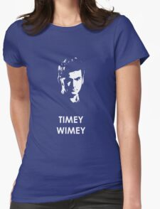 Timey Wimey Womens Fitted T-Shirt