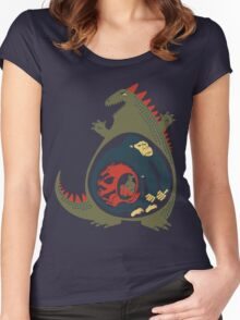 Monster Food Chain Women's Fitted Scoop T-Shirt