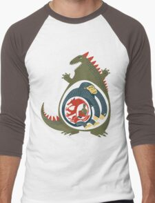 Monster Food Chain Men's Baseball ¾ T-Shirt