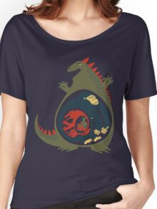 Monster Food Chain Women's Relaxed Fit T-Shirt
