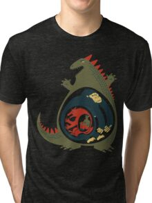 Monster Food Chain Tri-blend T-Shirt