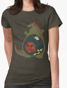 Monster Food Chain Womens Fitted T-Shirt