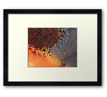 Crusted Surface Framed Print