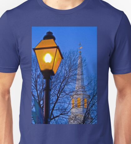 Lamp Post and Church Steeple T-Shirt
