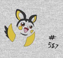 Pokemon 587 Emolga One Piece - Short Sleeve