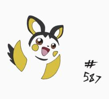 Pokemon 587 Emolga One Piece - Short Sleeve