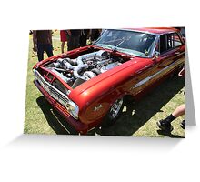 FORD 460 cubic inches with twin turbos Greeting Card