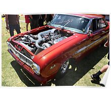 FORD 460 cubic inches with twin turbos Poster