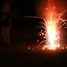 July Fireworks at Night by Jonathon Wuehler