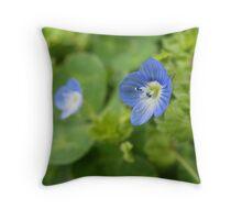 Microscopic Bloom Throw Pillow